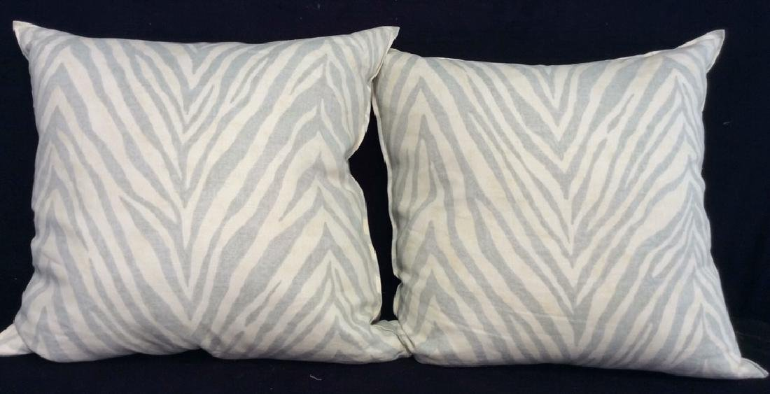 Pair light Turquoise Zebra Throw pillows Each measures