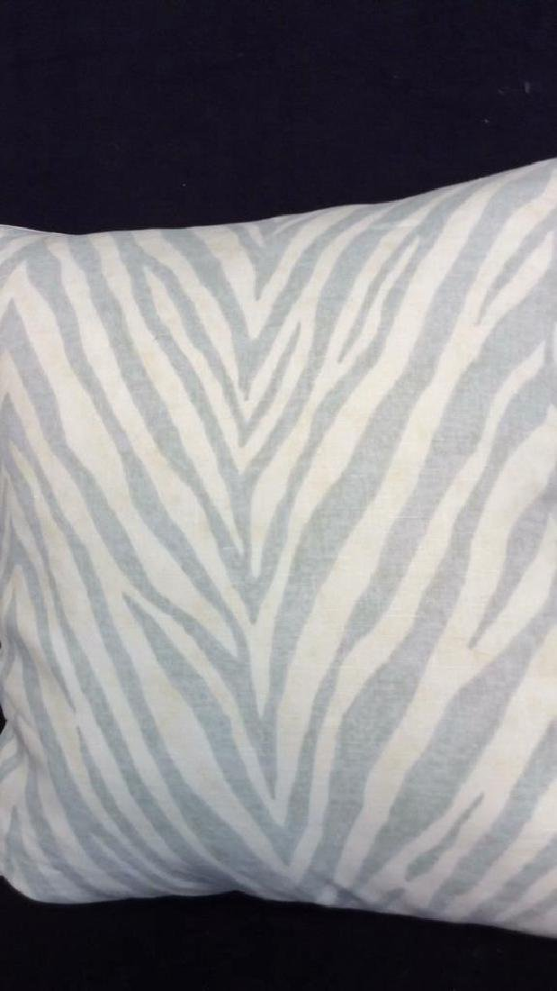 Pair light Turquoise Zebra Throw pillows Each measures - 2