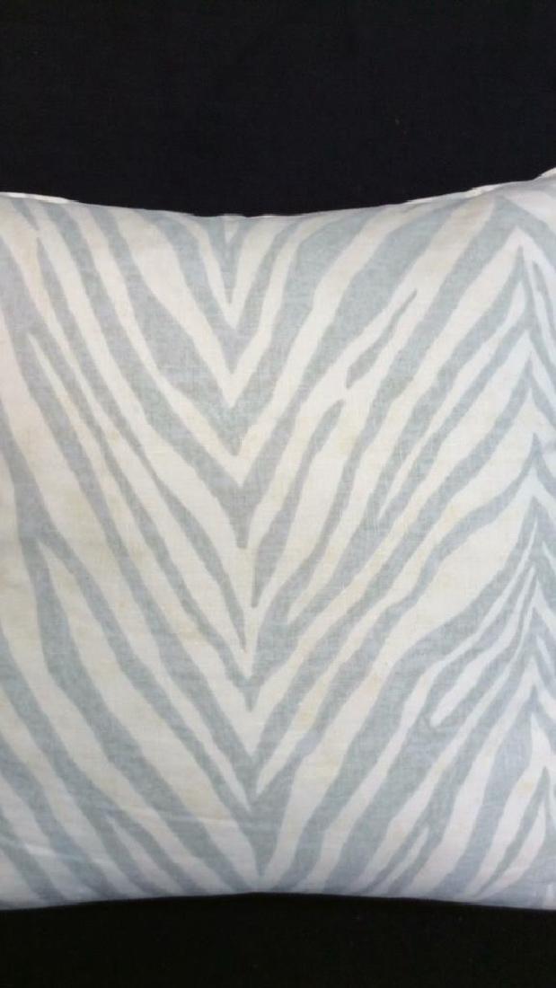 Pair light Turquoise Zebra Throw pillows Each measures - 3