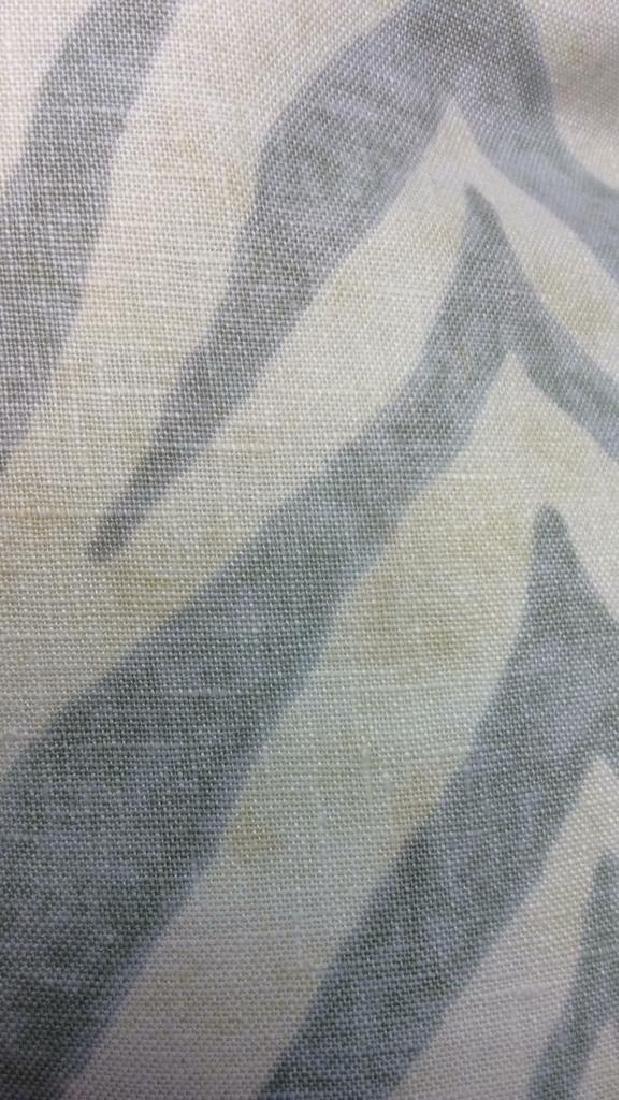 Pair light Turquoise Zebra Throw pillows Each measures - 4