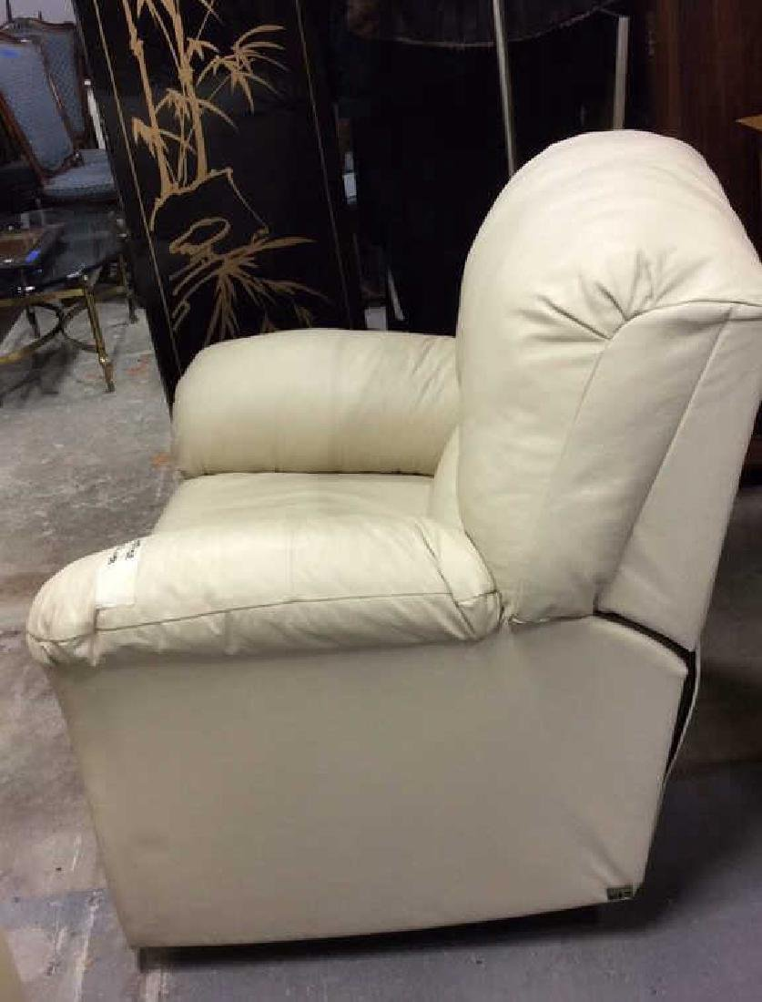 Eleanor Beige Leather Recliner Extra padded seat and - 6