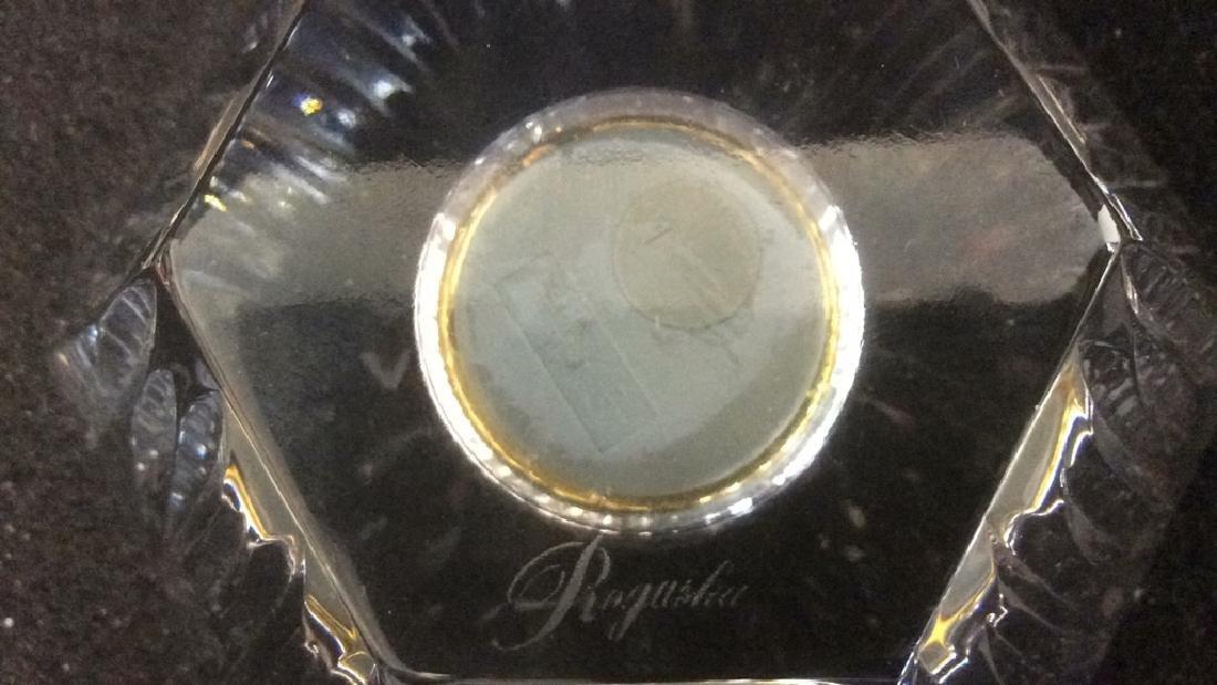 Crystal Pentagon Shaped Vintage Clock Dresser Top Heavy - 4
