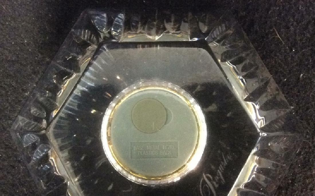 Crystal Pentagon Shaped Vintage Clock Dresser Top Heavy - 5