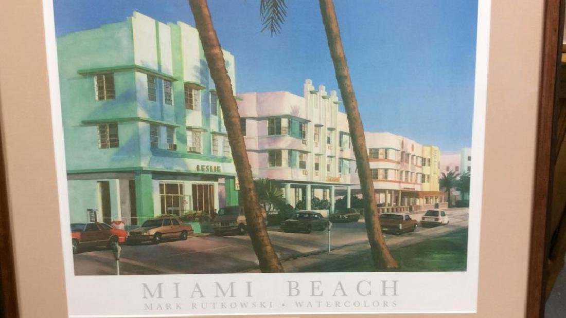 Framed Mark Rutkowski Miami Beach Poster Art gallery - 2