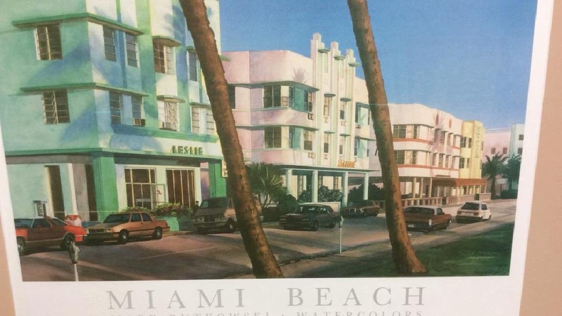 Framed Mark Rutkowski Miami Beach Poster Art gallery - 3