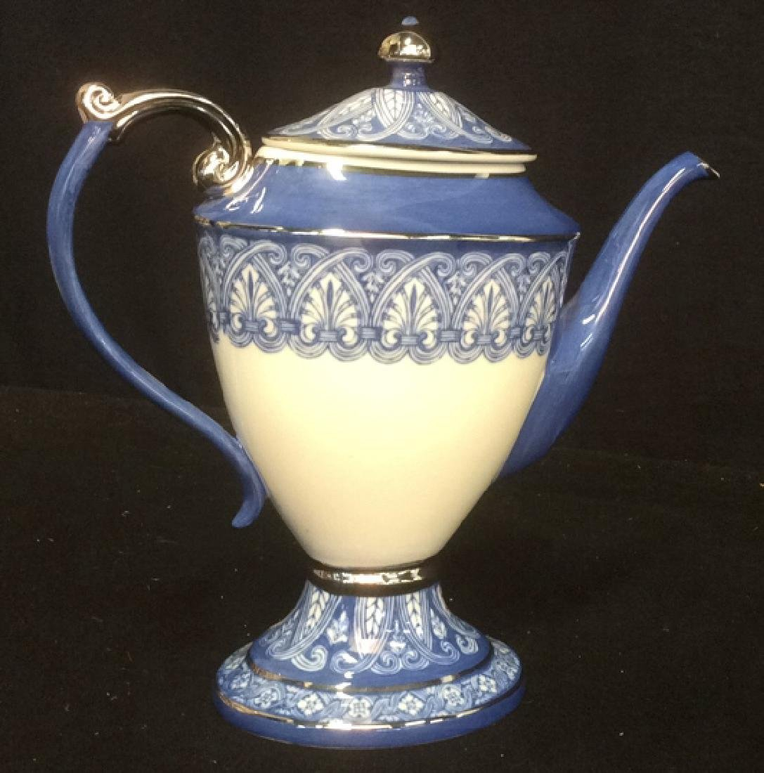 Vintage Bombay 7-Piece Porcelain Tea Set Blue and White - 5