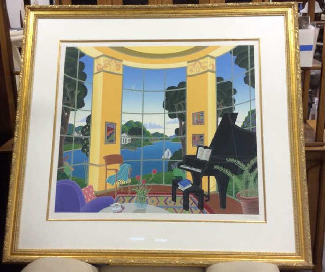 Thomas McKnight Signed Litho Professionally framed and
