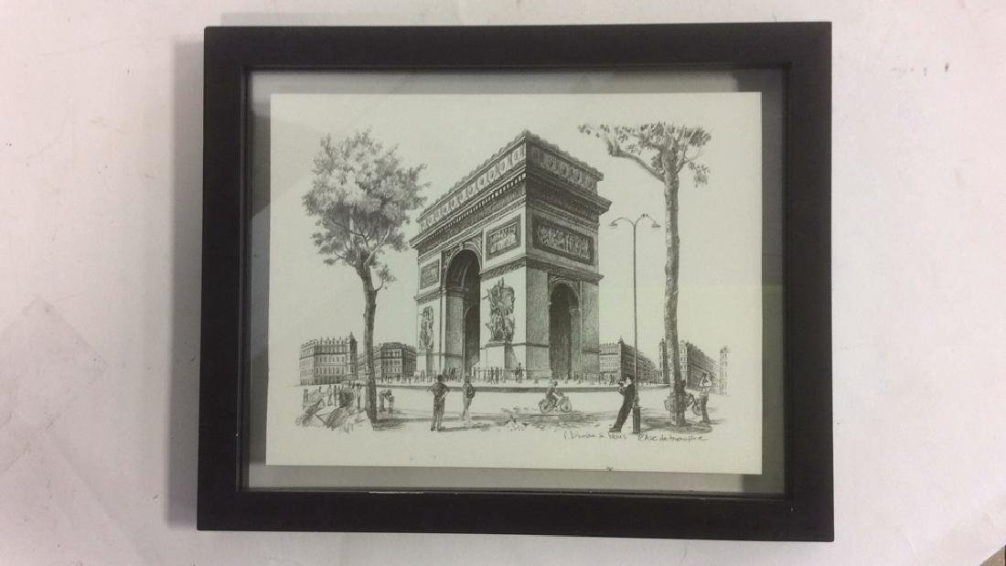 Group of 6  Framed Artwork Prints Six framed artwork, - 4