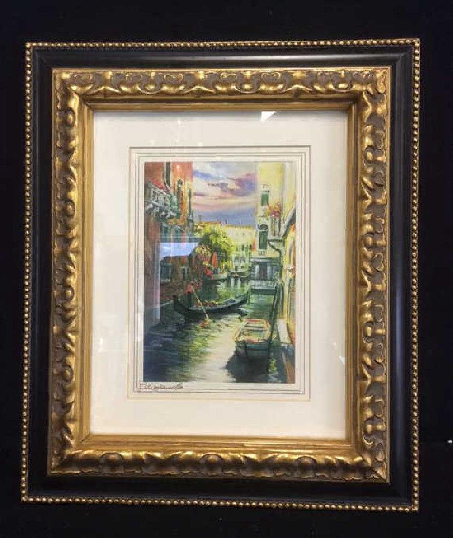 Group of 6  Framed Artwork Prints Six framed artwork, - 8