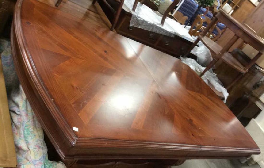 Wood Iron Trestle Style Dining Table Cherry wood - 5