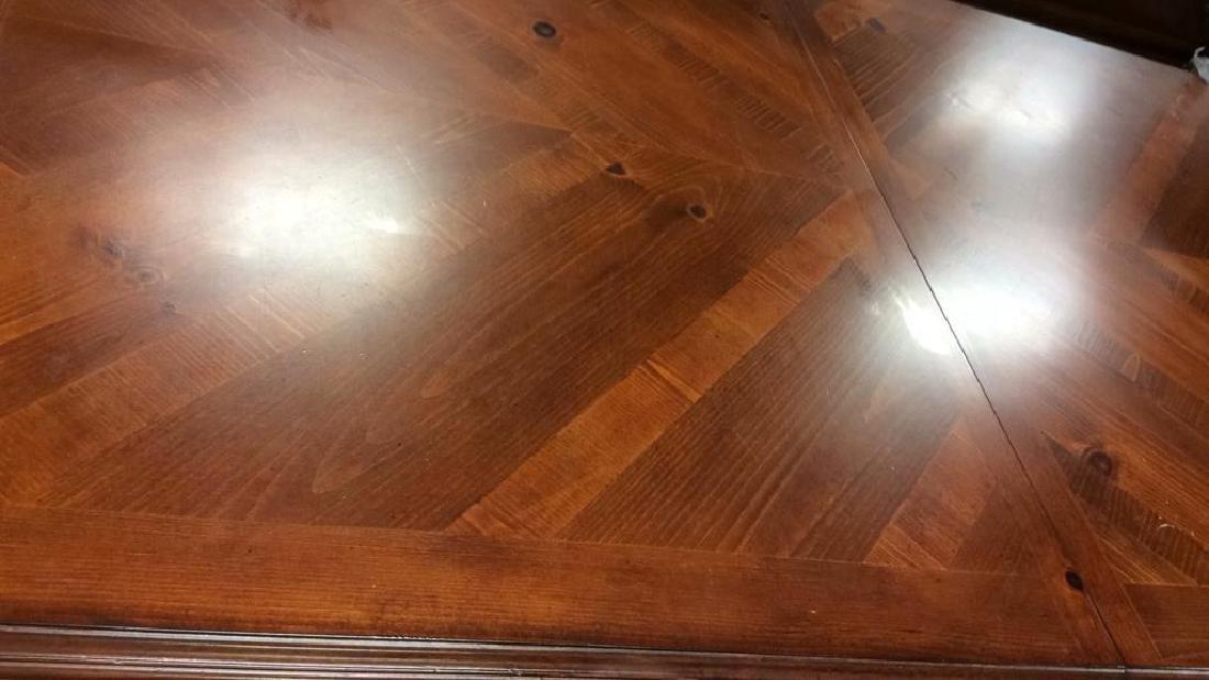 Wood Iron Trestle Style Dining Table Cherry wood - 7