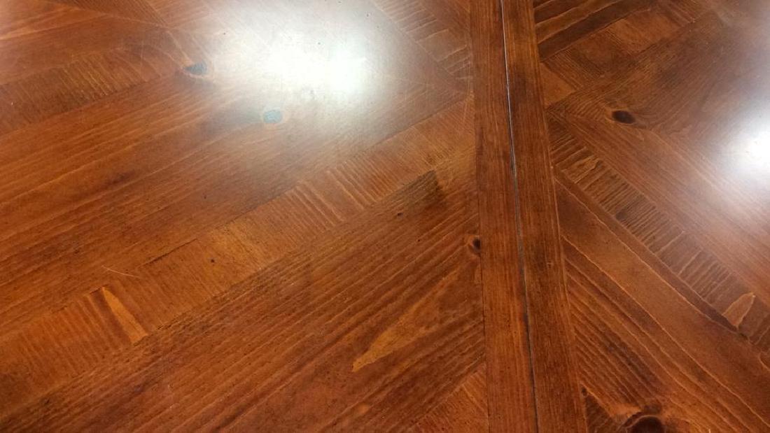 Wood Iron Trestle Style Dining Table Cherry wood - 8