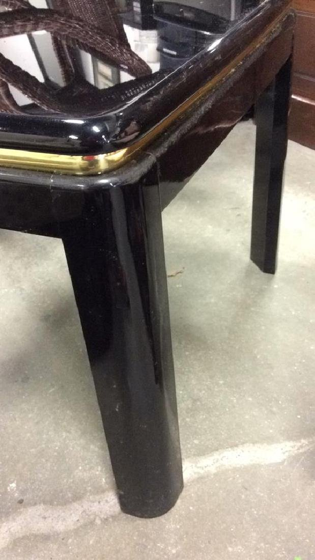 Brass and Black Lacquer End Table End table side table - 7