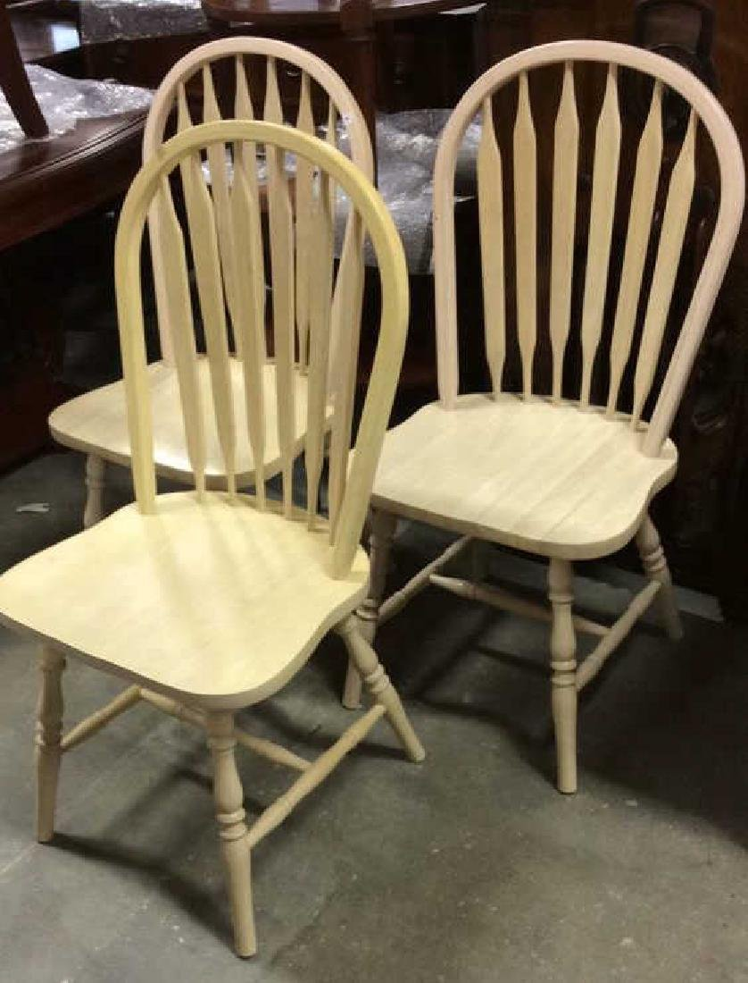 Set 3 light wood Windsor style chairs Dining chairs,