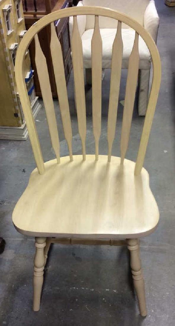 Set 3 light wood Windsor style chairs Dining chairs, - 2