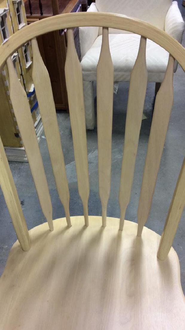Set 3 light wood Windsor style chairs Dining chairs, - 3