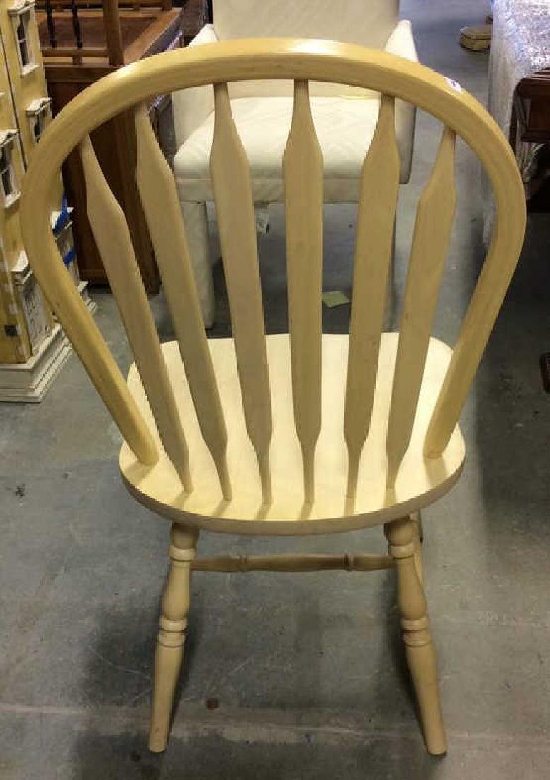 Set 3 light wood Windsor style chairs Dining chairs, - 5