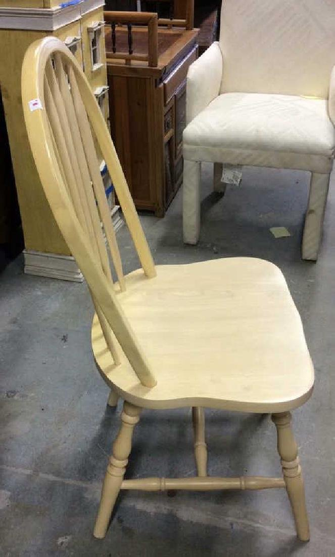 Set 3 light wood Windsor style chairs Dining chairs, - 6
