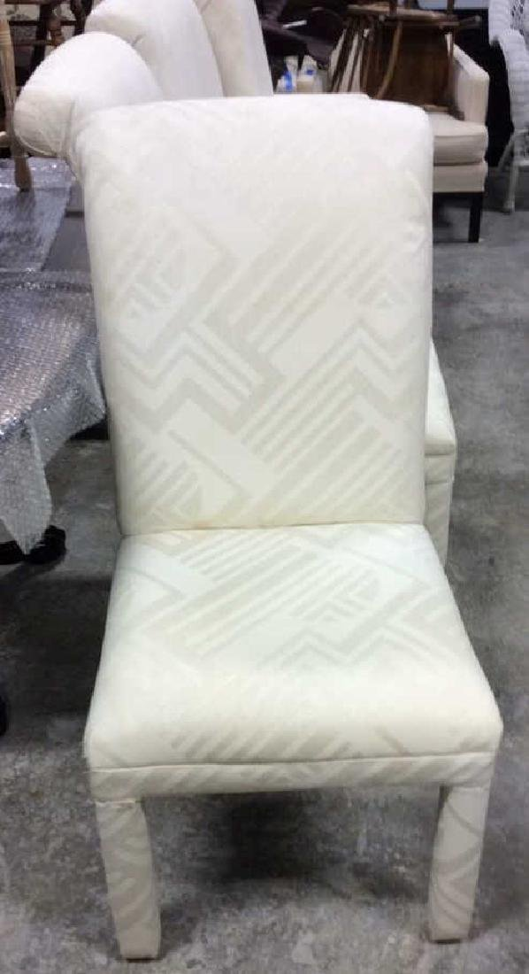 Set 4 Upholstered Parsons Style Chairs 2 arm chairs 2 - 2