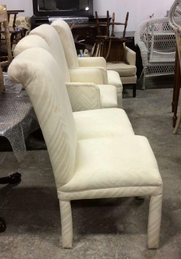 Set 4 Upholstered Parsons Style Chairs 2 arm chairs 2 - 3