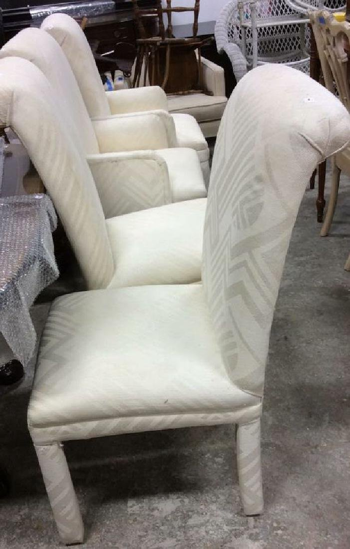 Set 4 Upholstered Parsons Style Chairs 2 arm chairs 2 - 5