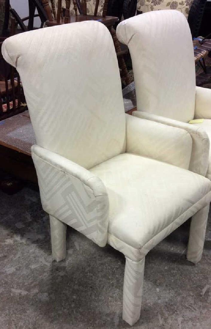 Set 4 Upholstered Parsons Style Chairs 2 arm chairs 2 - 6