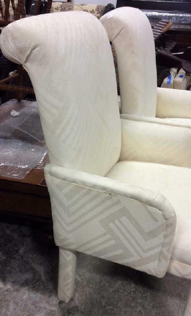 Set 4 Upholstered Parsons Style Chairs 2 arm chairs 2 - 7