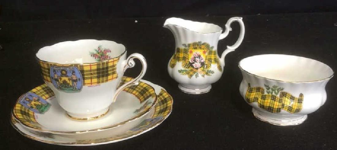 Group Scottish Theme Bone China Lot includes Handled - 4