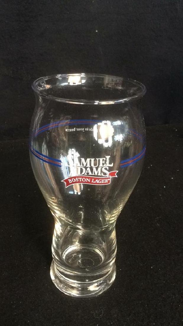 Set of 4 Samuel Adams Boston Lager Beer Glasses These - 2
