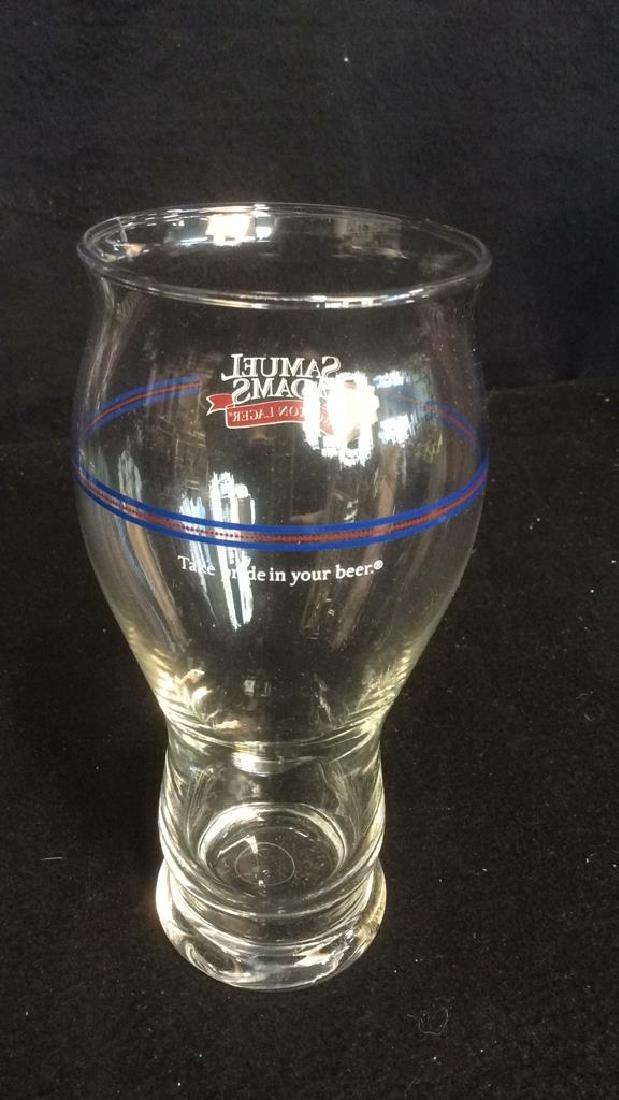Set of 4 Samuel Adams Boston Lager Beer Glasses These - 3