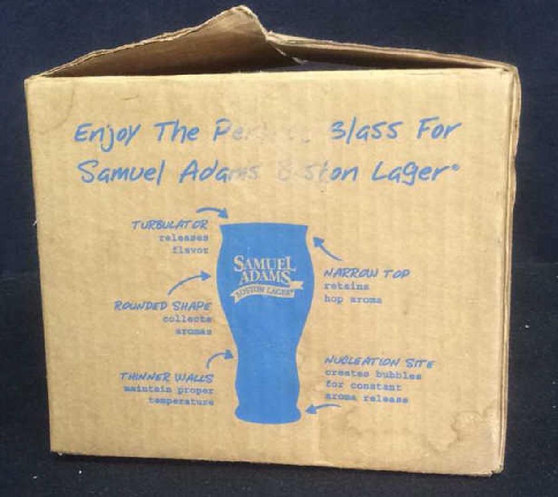 Set of 4 Samuel Adams Boston Lager Beer Glasses These - 6