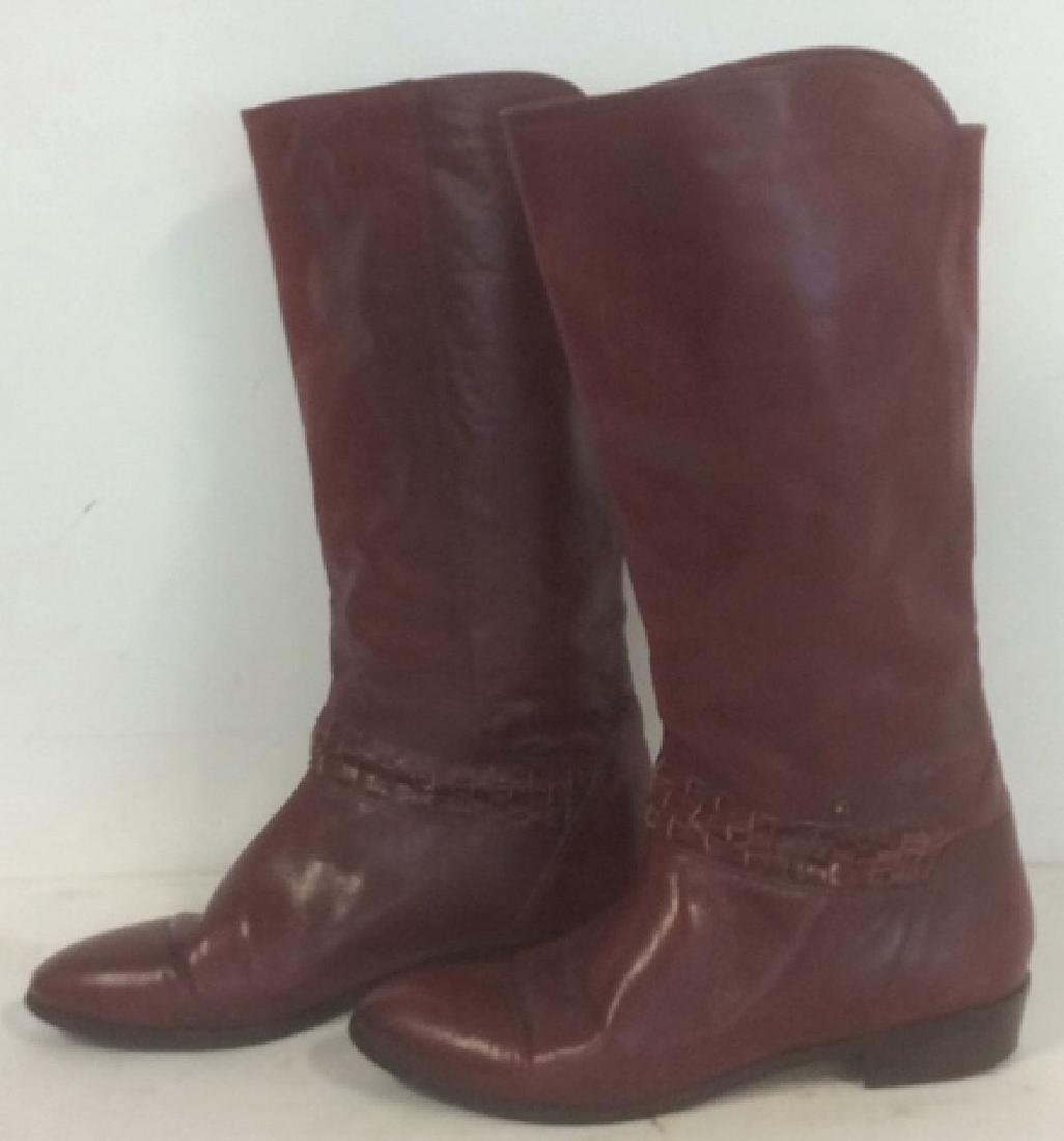 Vintage Aigner  Women's Red Leather Boots Stylish