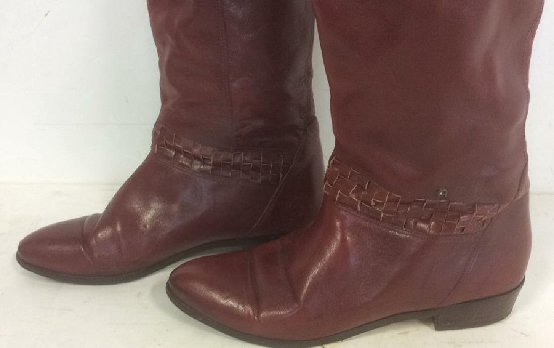 Vintage Aigner  Women's Red Leather Boots Stylish - 2