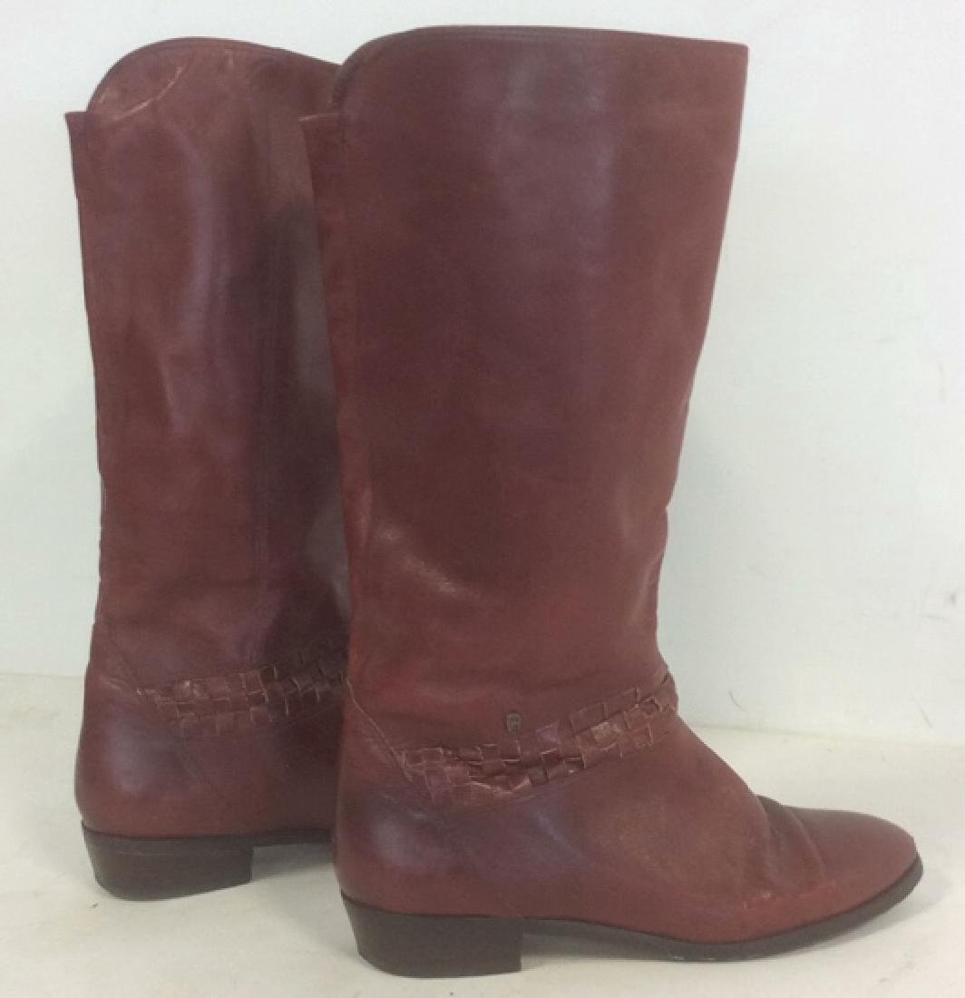 Vintage Aigner  Women's Red Leather Boots Stylish - 5