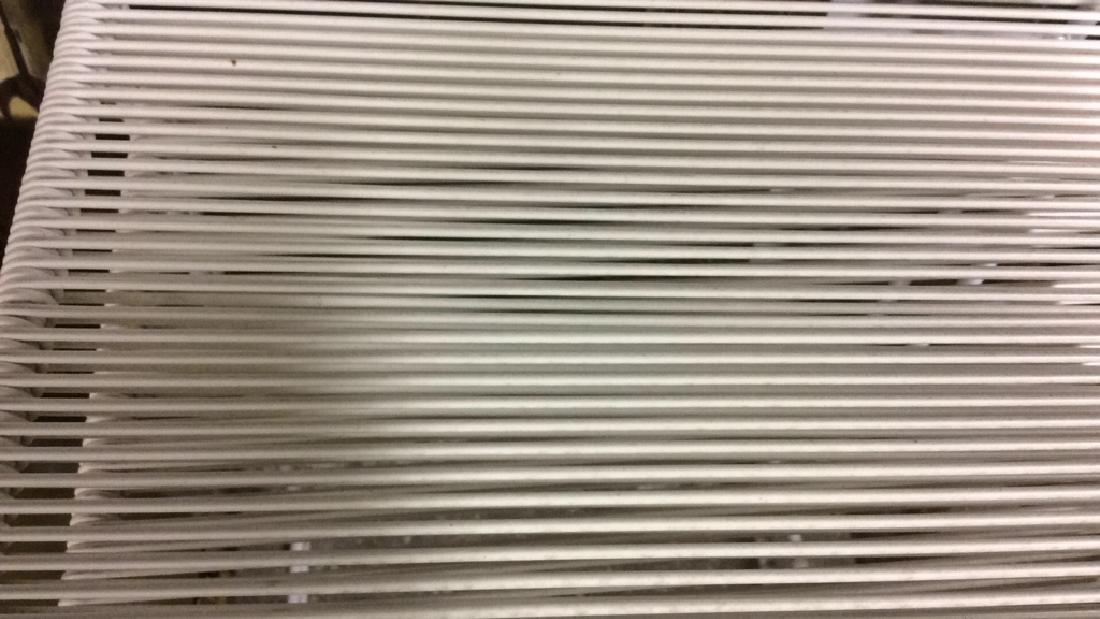 Pair White Metal & Banded Out Door Bar Stools Bar - 3