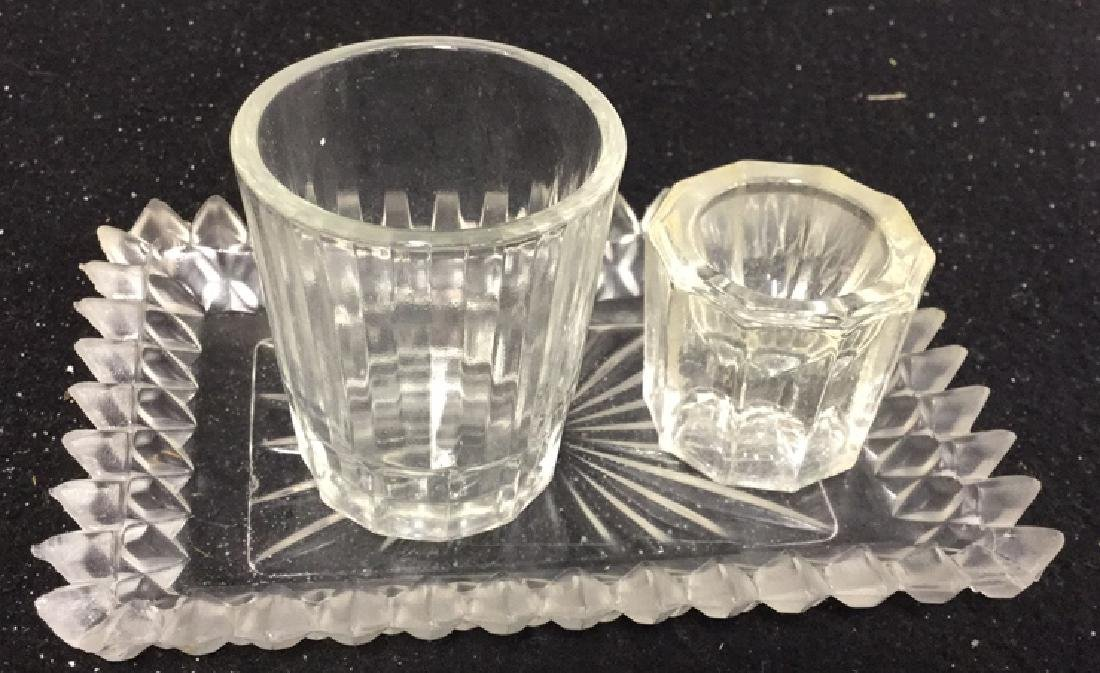 Group Lot Crystal And Glass Tabletops Assorted crystal - 8