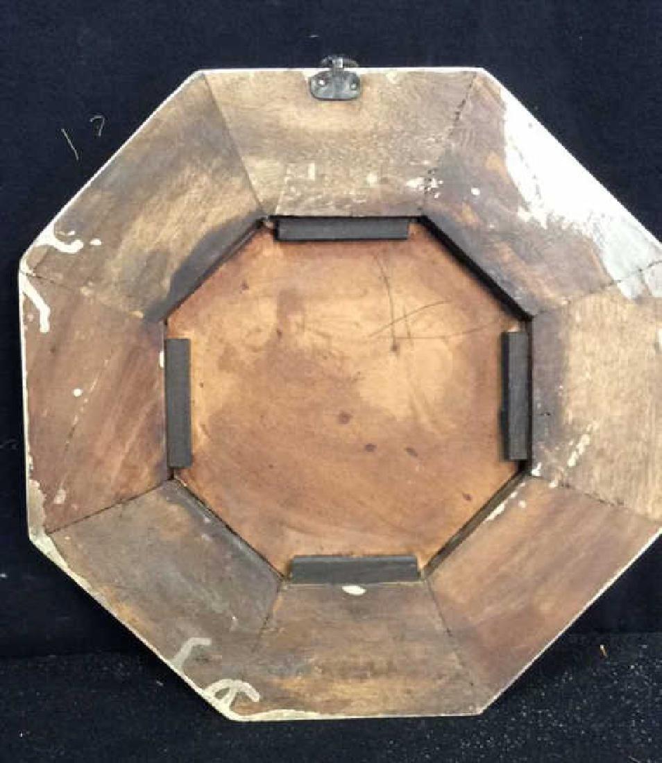 White Washed Octagonal Mirror Wood framed mirror - 5