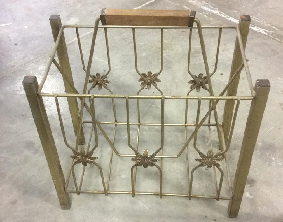 Group 4 Vintage Tables Racks Stands Metal Lot of 4 - 4