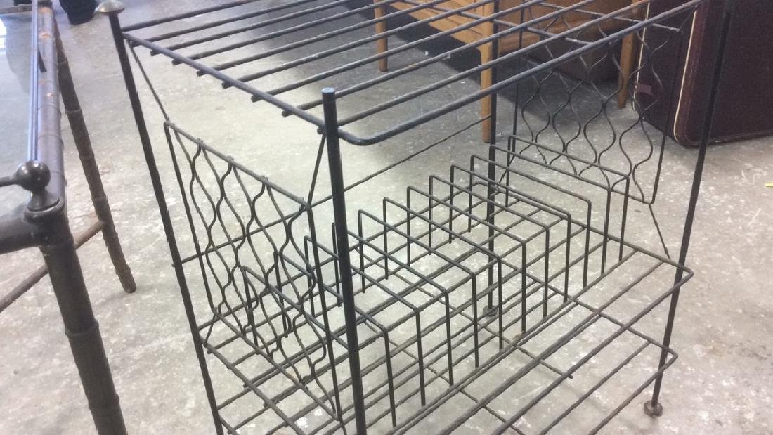 Group 4 Vintage Tables Racks Stands Metal Lot of 4 - 7