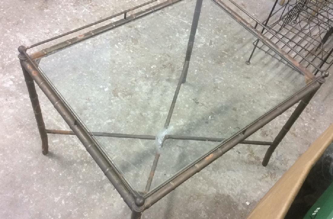Group 4 Vintage Tables Racks Stands Metal Lot of 4 - 8