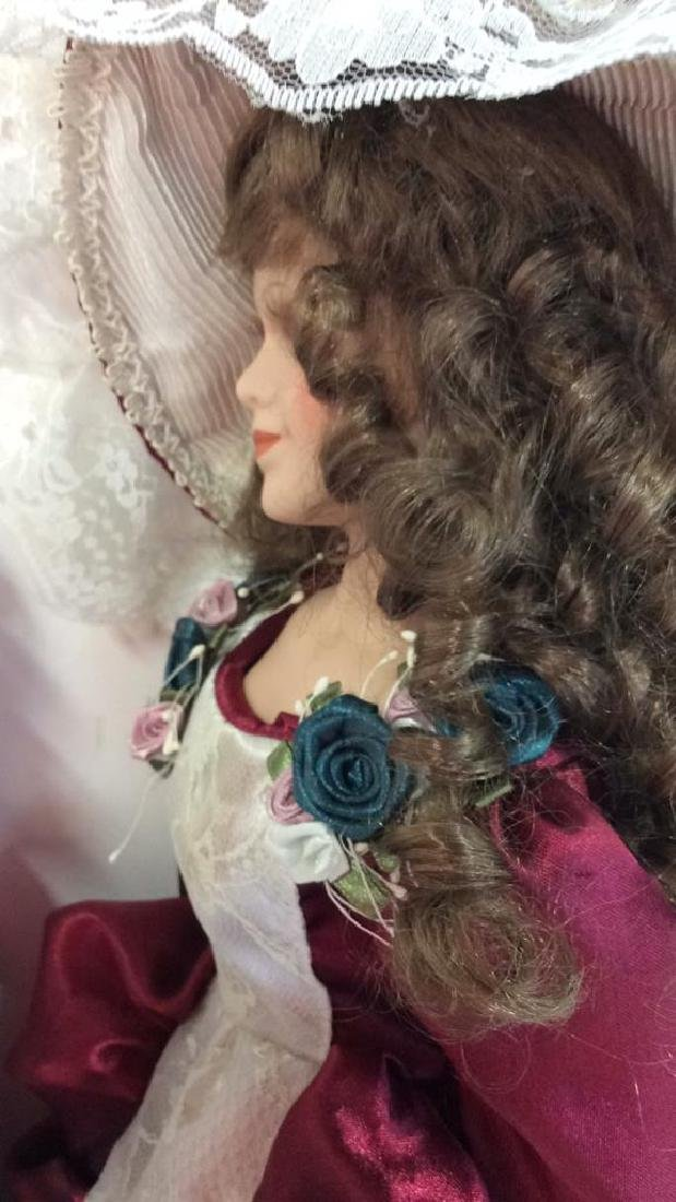 Collectible Porcelain Costumed pair Dolls Detailed - 10