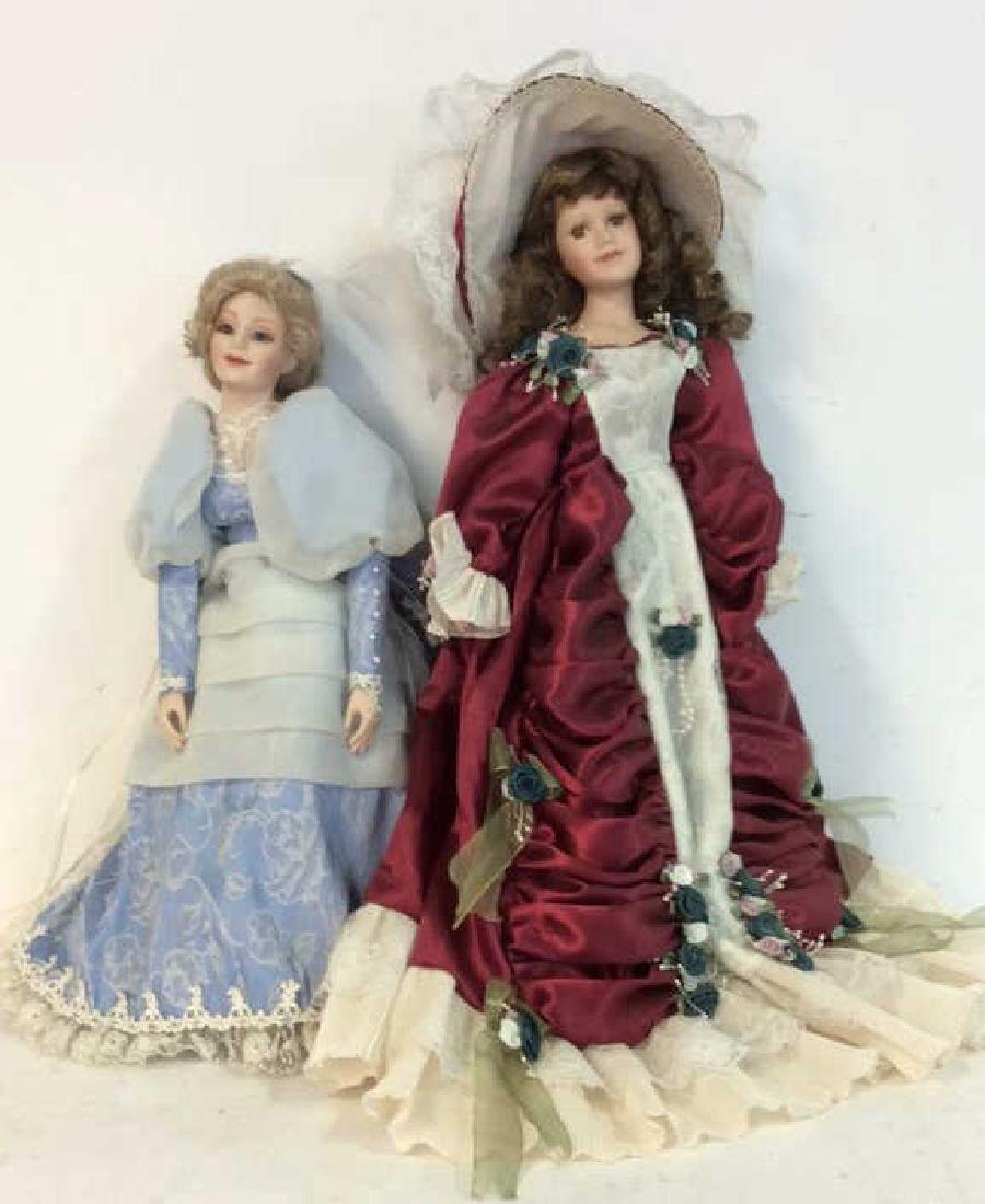 Collectible Porcelain Costumed pair Dolls Detailed