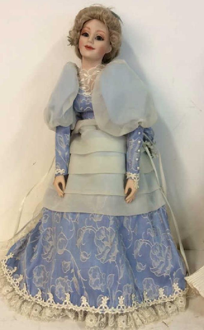 Collectible Porcelain Costumed pair Dolls Detailed - 2
