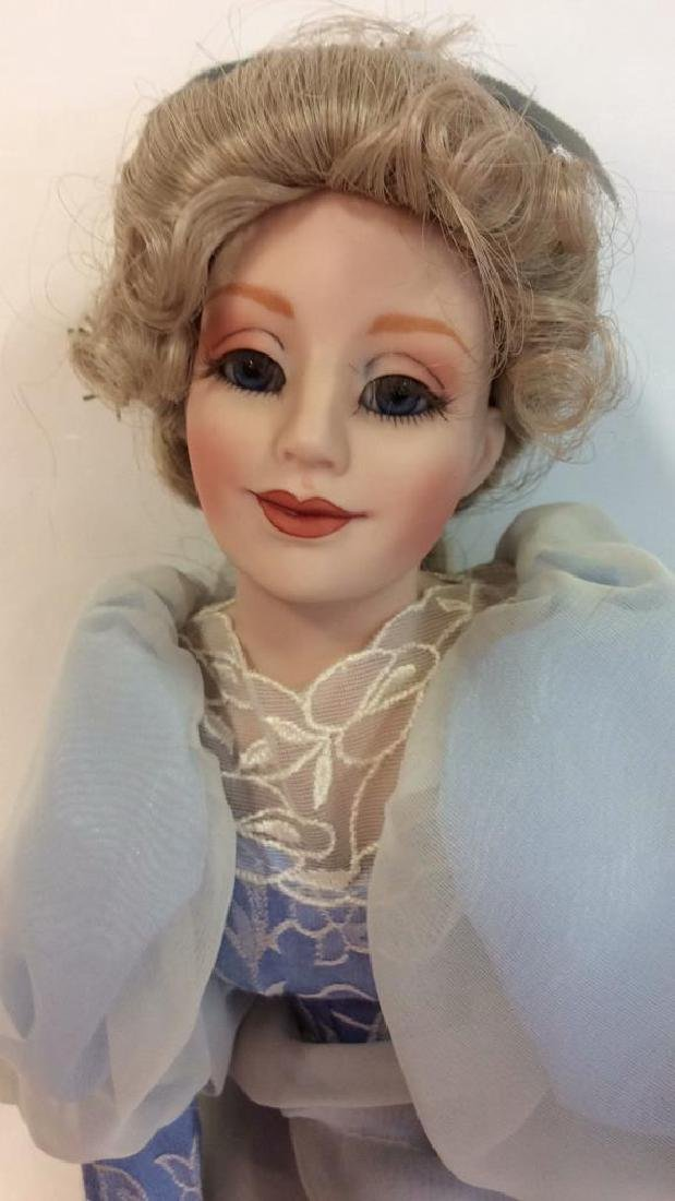 Collectible Porcelain Costumed pair Dolls Detailed - 3