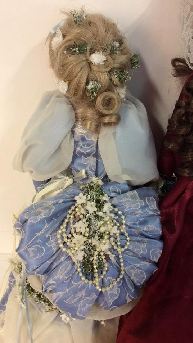 Collectible Porcelain Costumed pair Dolls Detailed - 7