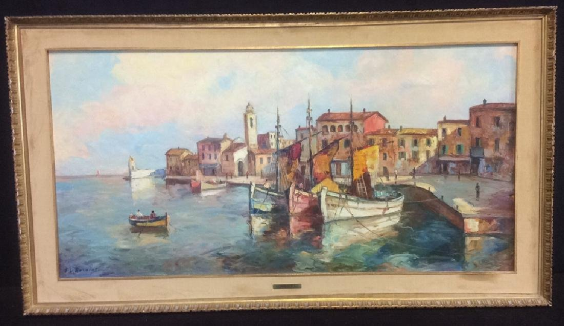 Oil Painting on Canvas Signed T. L. Novaretti Oil