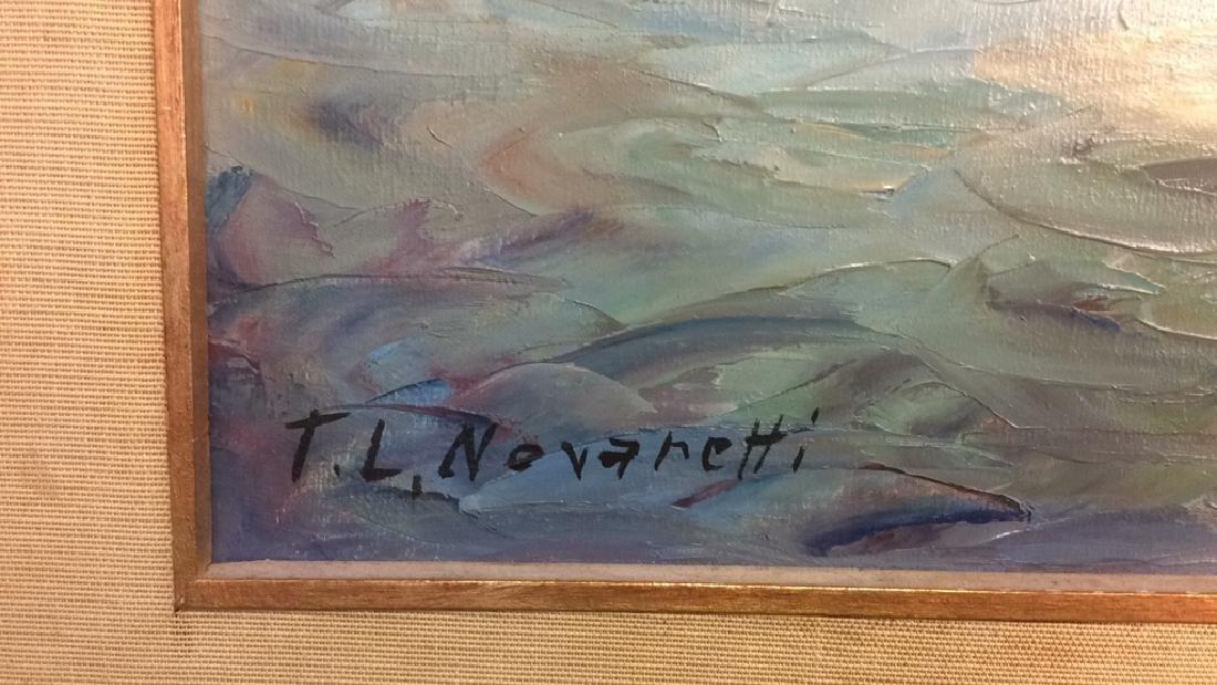Oil Painting on Canvas Signed T. L. Novaretti Oil - 3