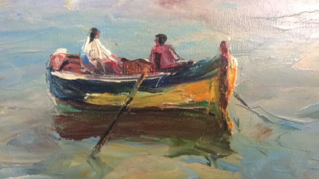 Oil Painting on Canvas Signed T. L. Novaretti Oil - 4