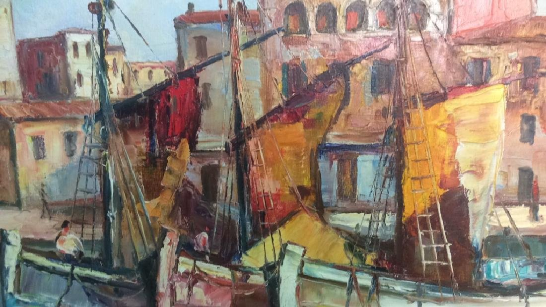 Oil Painting on Canvas Signed T. L. Novaretti Oil - 5