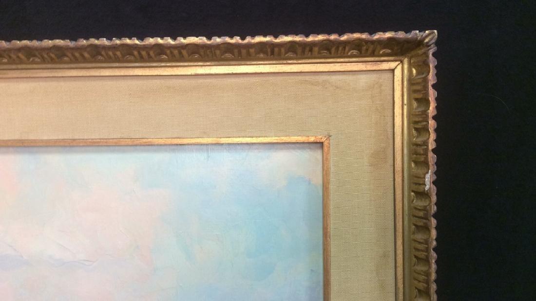 Oil Painting on Canvas Signed T. L. Novaretti Oil - 6